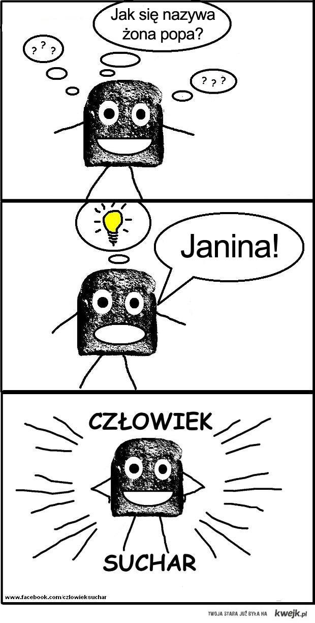 Człowiek Suchar: Żona popa? Janina