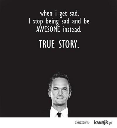 When i get sad...