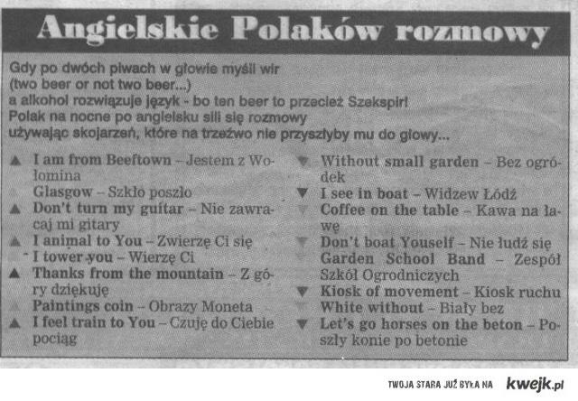 Angielskie rozmowy Polaków.