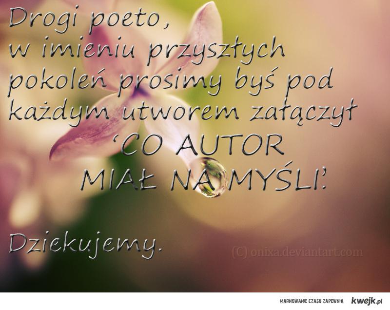 Drogi Poeto