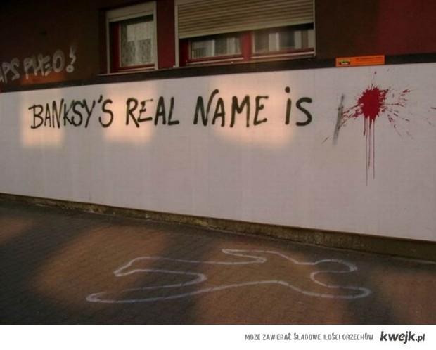 prawdziwe imię banksy'ego to..