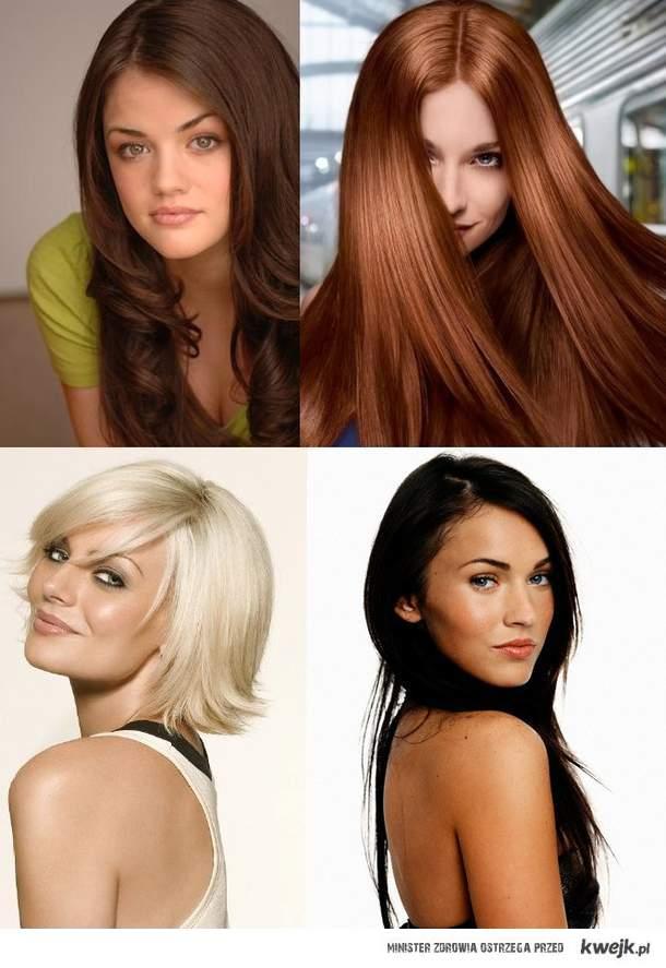 Nie ważne blond, czy czarne, byle by pasowały.