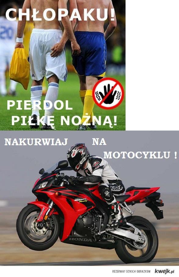 Chłopak = motocykl