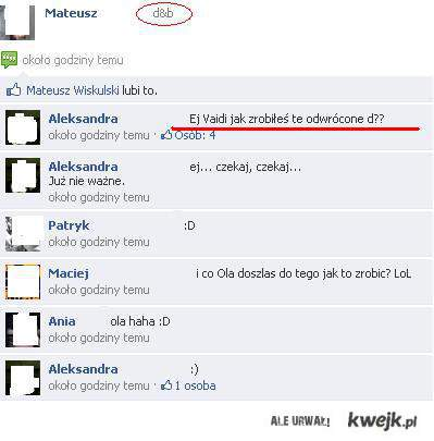 Blondynka na Facebook'u