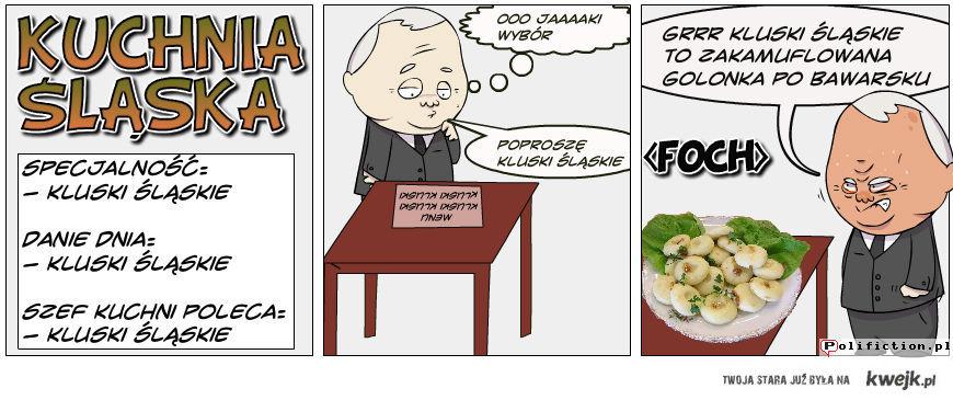 kuchnia śląska i kaczyński