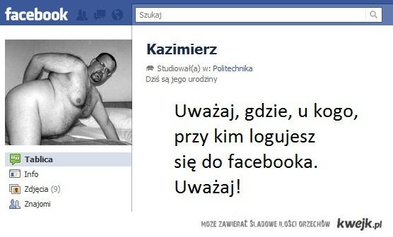 Uważaj gdzie logujesz się facebooka