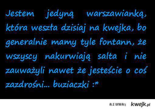 Warszawa pozdrawia :)
