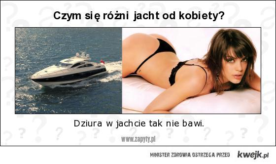 kobieta i jacht