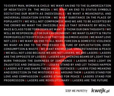 The Lazers Manifesto