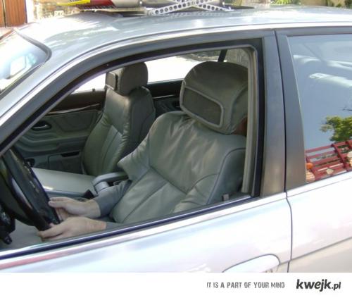 człowiek samochód
