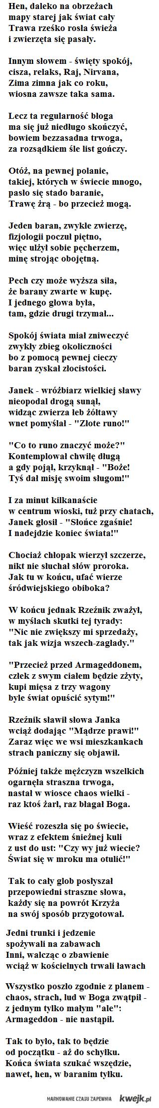 Hymn o końcu świata