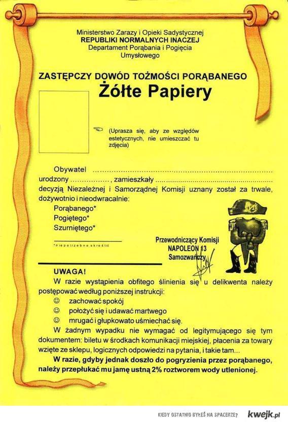 Żółte papiery