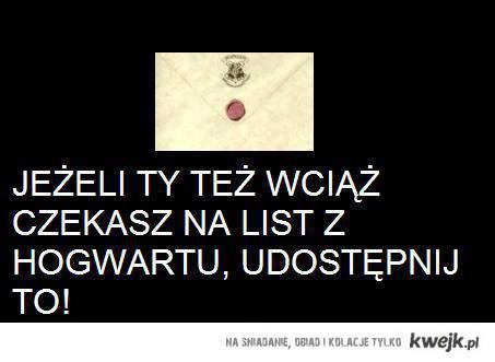 List z Hogwartu