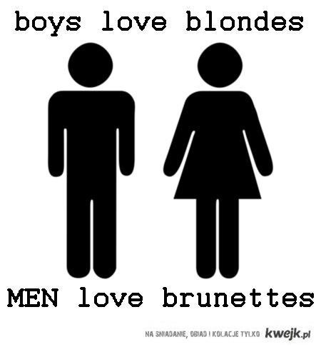 MEN love brunettes