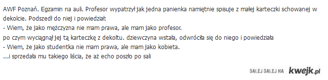Studentka vs Profesor