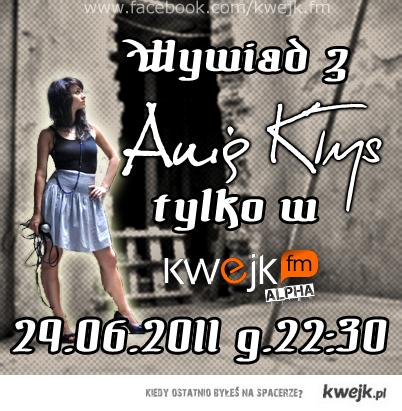 Wywiad z Anią Kłys na kwejk.fm