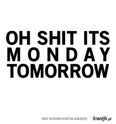 poniedziałek ...
