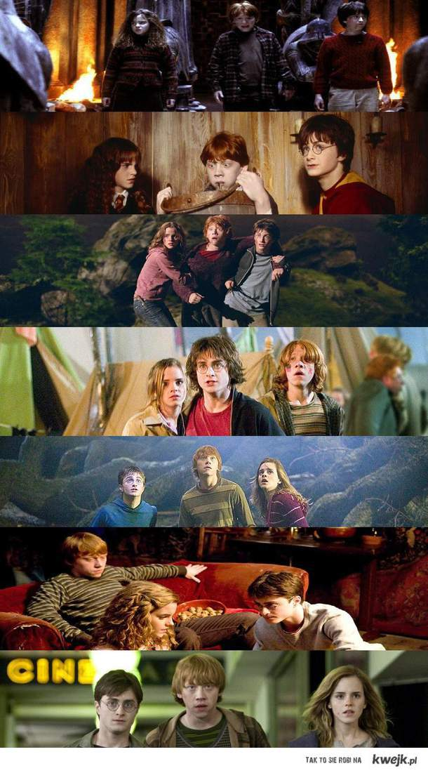 Ron, Harry, Hermiona