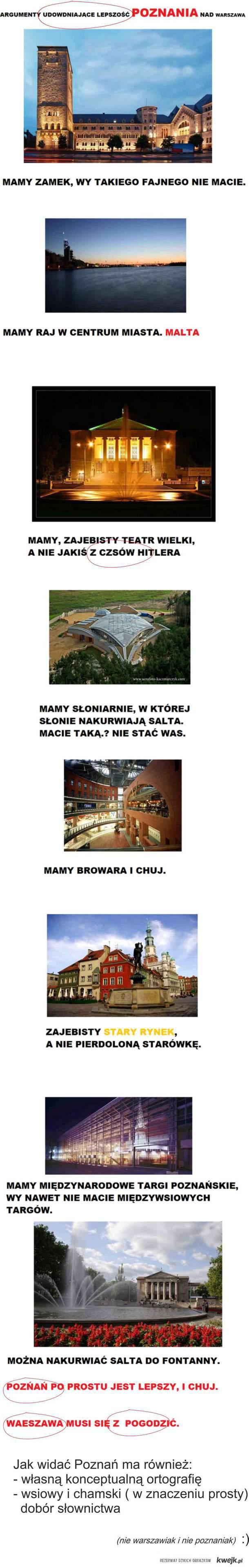 Poznań vs. Warszawa- Konkluzja