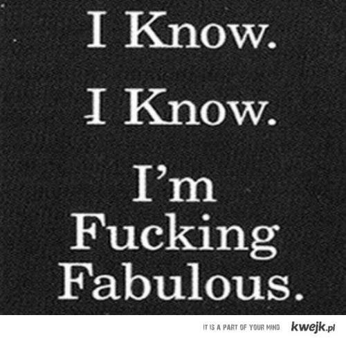 i know, i know