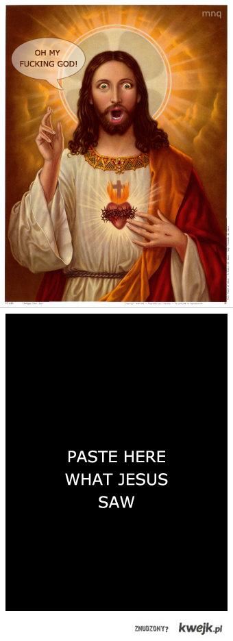 What Jesus saw?