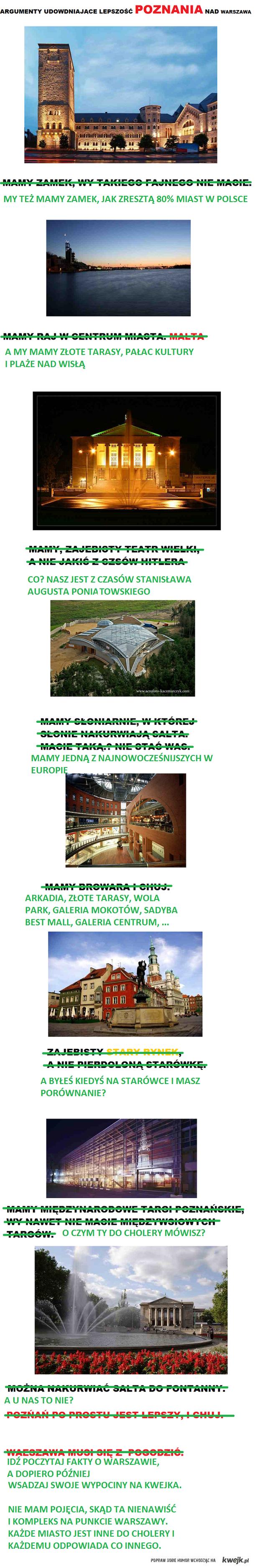 Sprostowanie Poznania i Warszawy