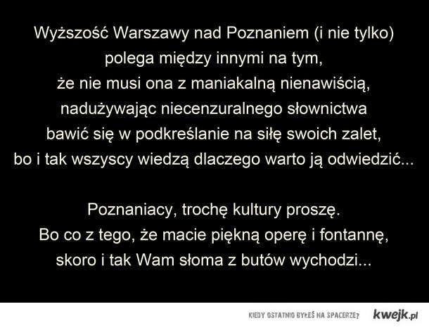 Szanowni Poznaniacy...