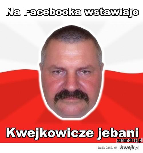 Na Faceboka wstawiajo