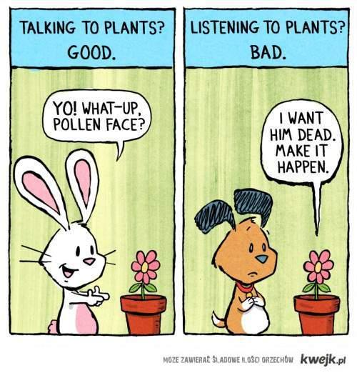 talking/listening to plants