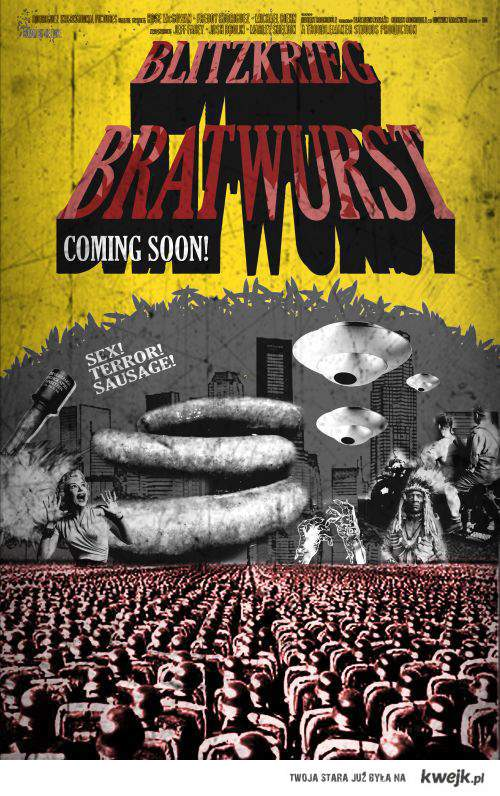 blitzkrieg bratwurst plakat