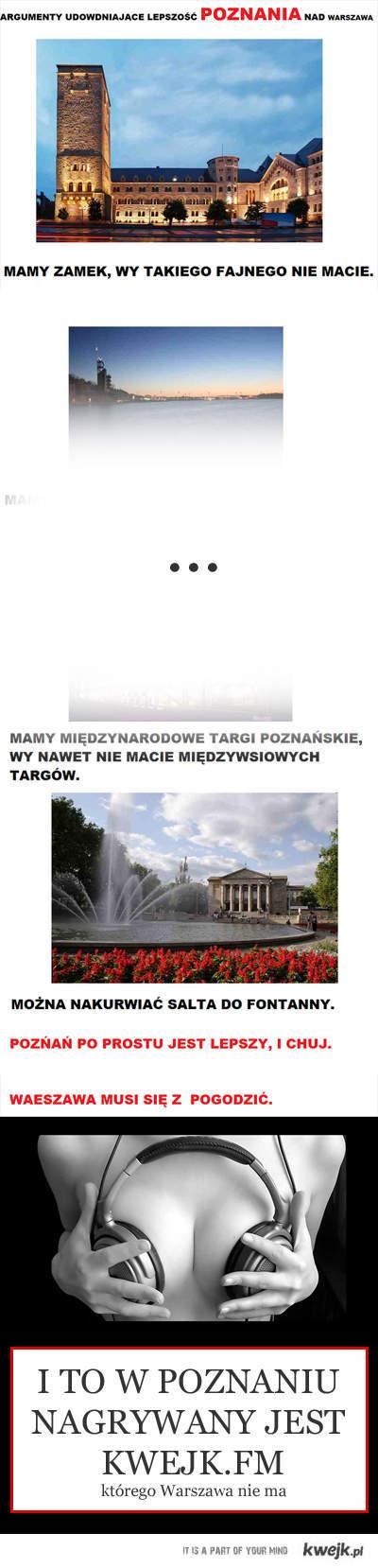 Poznań vs. Warszawa - kwejk.fm