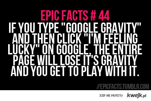 grawitacja w googlach