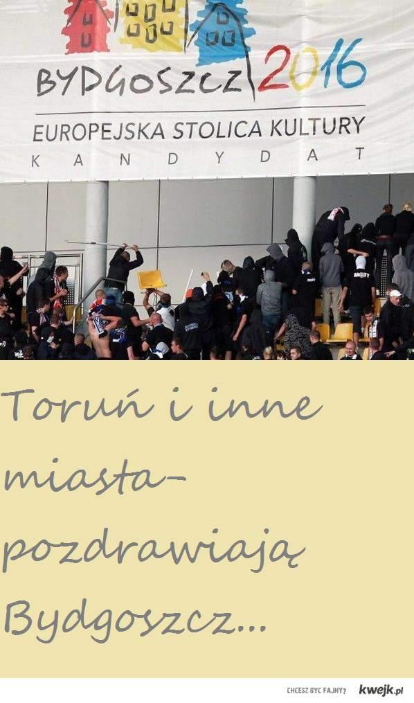 miasta pozdrawiają Bydgoszcz