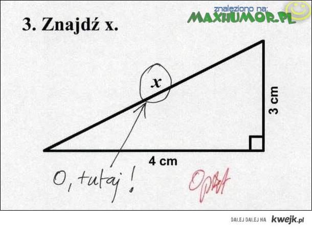 Znajdź X