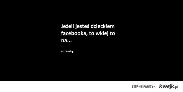 dzieci facebooka