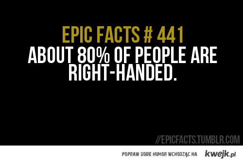 prawo ręczni - a ja jestem w tych 20%