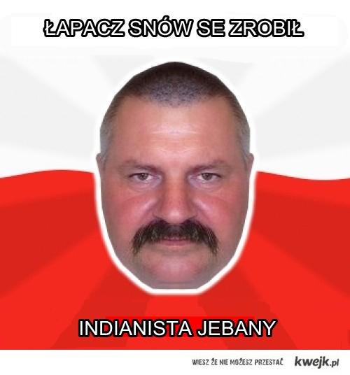 Pan Andrzej wakacyjno-indianistycznie