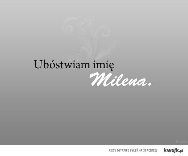 Milena - imię Boga