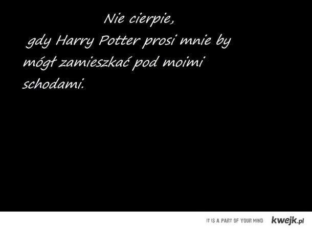 Harry Potter mnie dręczy