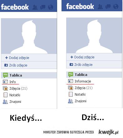 ZMIANY NA FB