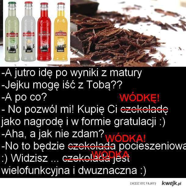 czekolada wódka