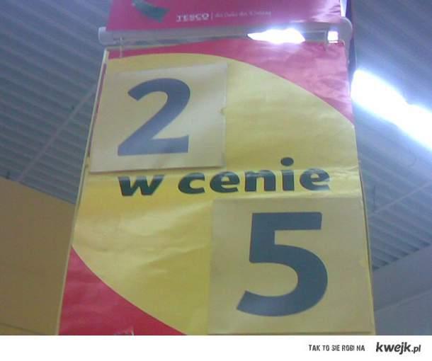 2 w cenie 5 tesco