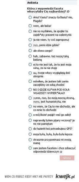 ankieta, hahaha!
